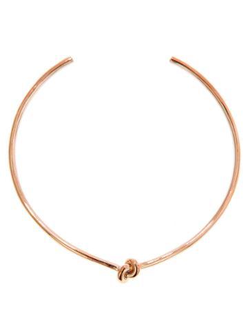 Jennifer Fisher Knot Choker - Designer Rose Gold Necklace