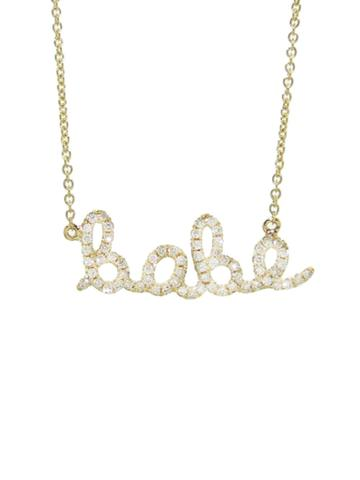 Sydney Evan Diamond Babe Necklace -yellow Gold