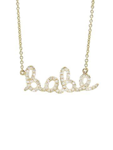 Sydney Evan Diamond Babe Necklace -yellow Gold