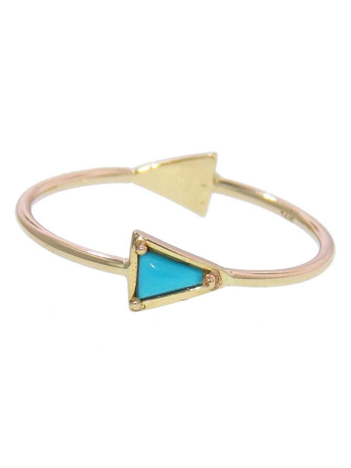 Mociun Double Triangle Ring