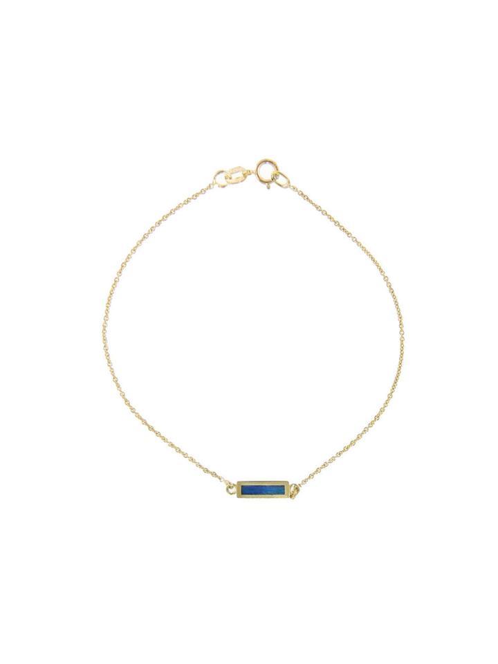 Jennifer Meyer Opal Inlay Bar Bracelet - Yellow Gold
