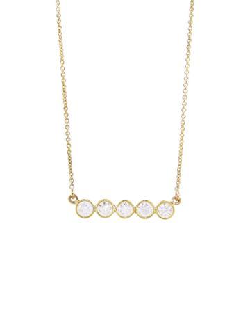 Jennifer Meyer Five Bezel Set Diamond Necklace