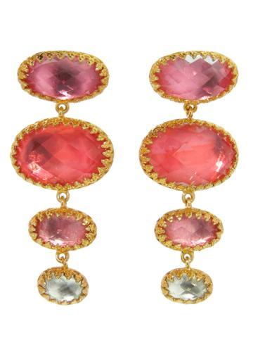 Larkspur & Hawk Small Handmade Tessa Earrings In Blush