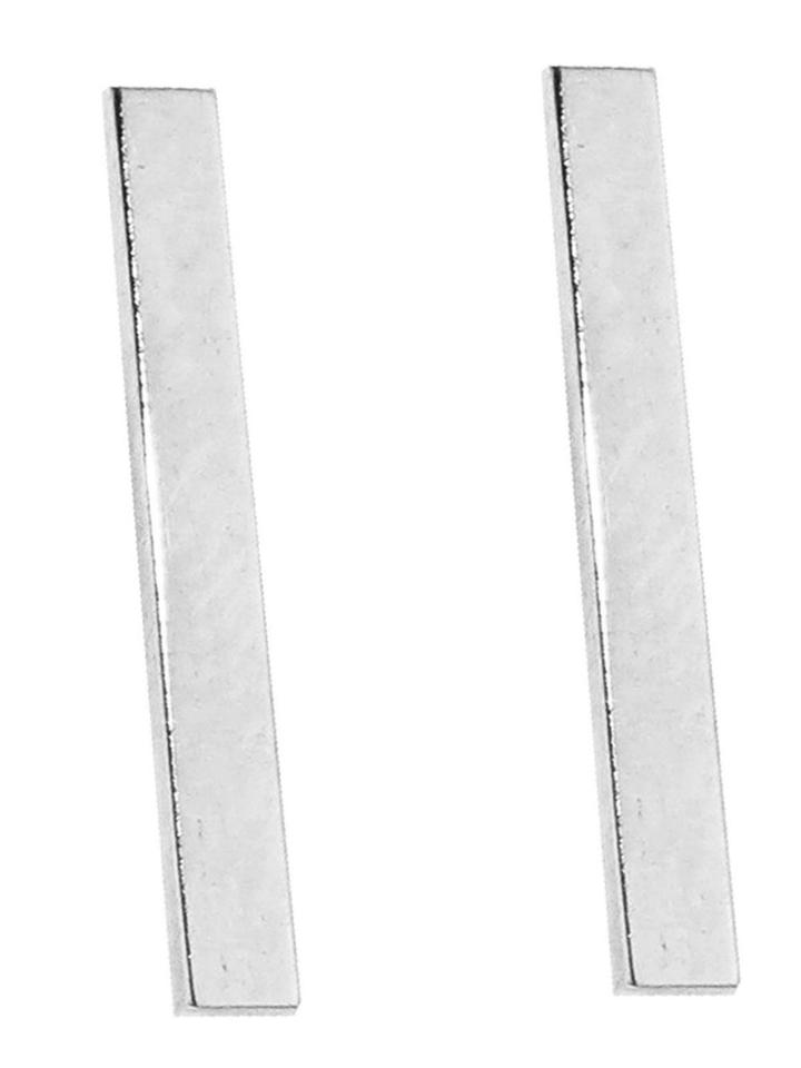 Jennifer Meyer Long Bar Studs - White Gold
