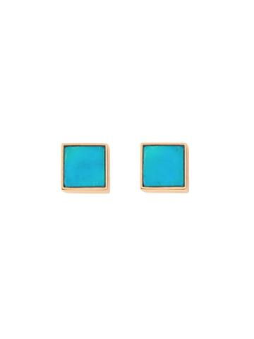 Ginette Ny Ever Turquoise Square Studs