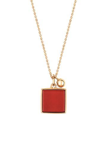 Ginette Ny Square Red Jasper Necklace