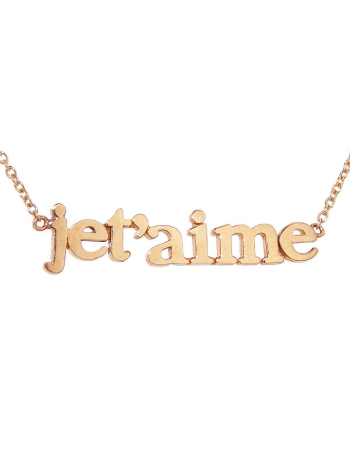 """Jennifer Meyer Jet'aime"""" Necklace - Rose Gold"""