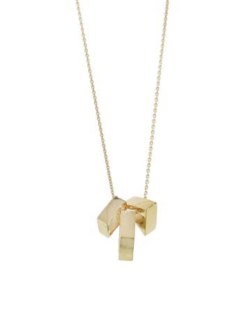 Mociun Shapes Necklace - Yellow Gold
