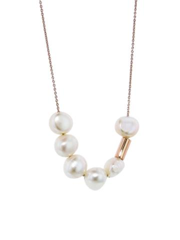 Ginette Ny Pearl And Straw Necklace