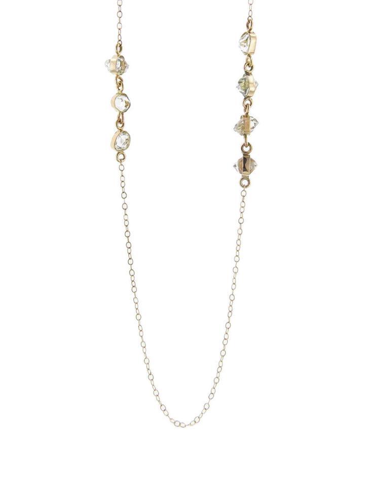 Melissa Joy Manning Long Herkimer Diamond Necklace