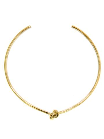 Jennifer Fisher Knot Choker - Designer Yellow Gold Necklace