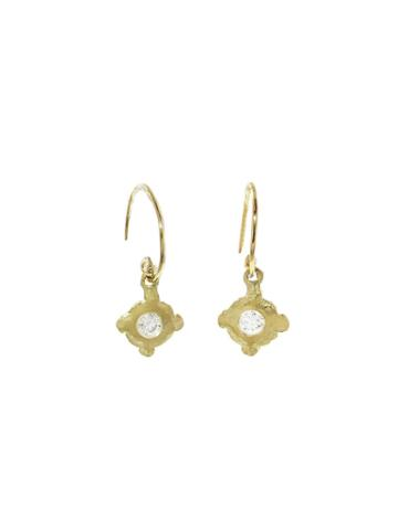 Ylang 23 Hammered Diamond Earrings