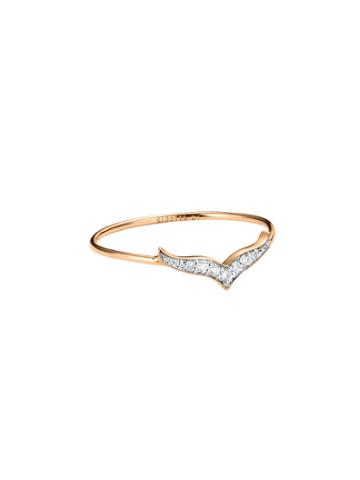 Ginette Ny Diamond Wise Ring - Rose Gold