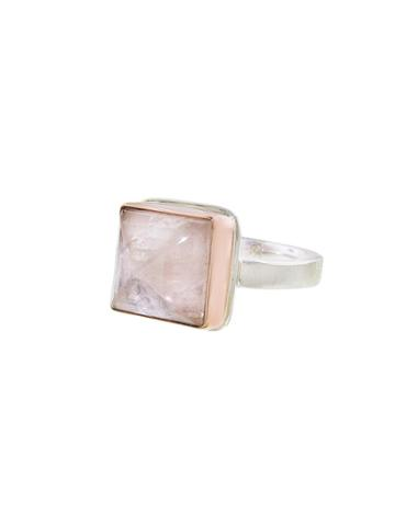 Jamie Joseph Small Square Morganite Ring