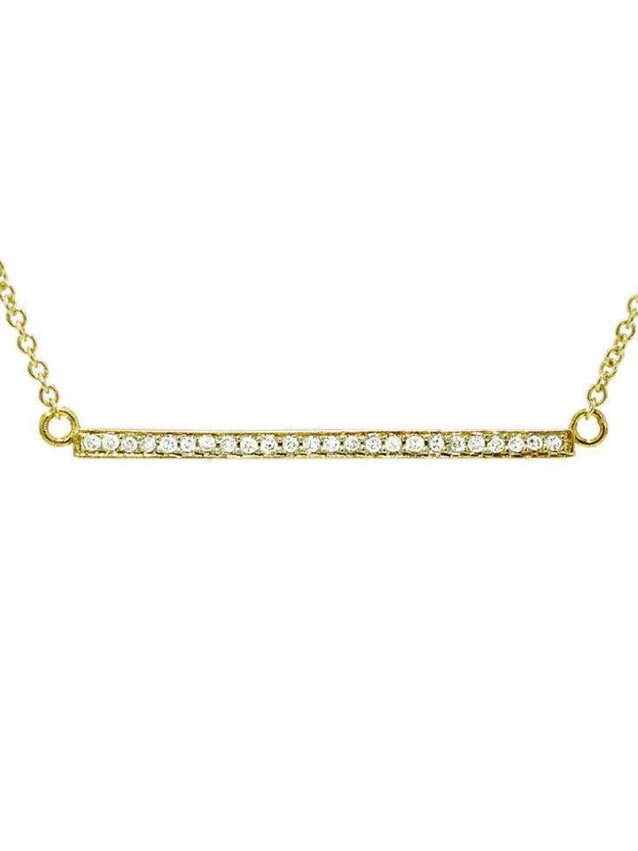 Jennifer Meyer Diamond Stick Necklace - Yellow Gold