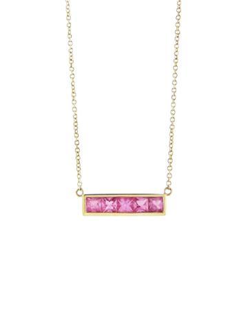 Jennifer Meyer Pink Sapphire Bar Necklace