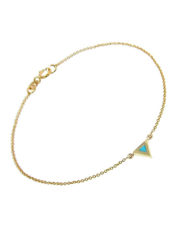 Jennifer Meyer Turquoise Inlay Triangle Bracelet