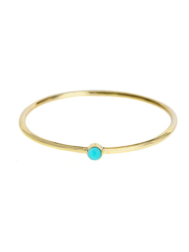 Jennifer Meyer Thin Turquoise Stacking Ring