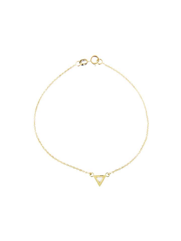 Jennifer Meyer Mother Of Pearl Inlay Triangle Bracelet