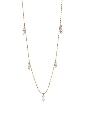 Kataoka Triple Diamond Cluster Fringe Necklace - Rose Gold