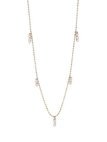 Kataoka Triple Diamond Cluster Fringe Necklace - Rose Gold