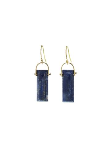 Ylang 23 Lapis Sycamore Earrings