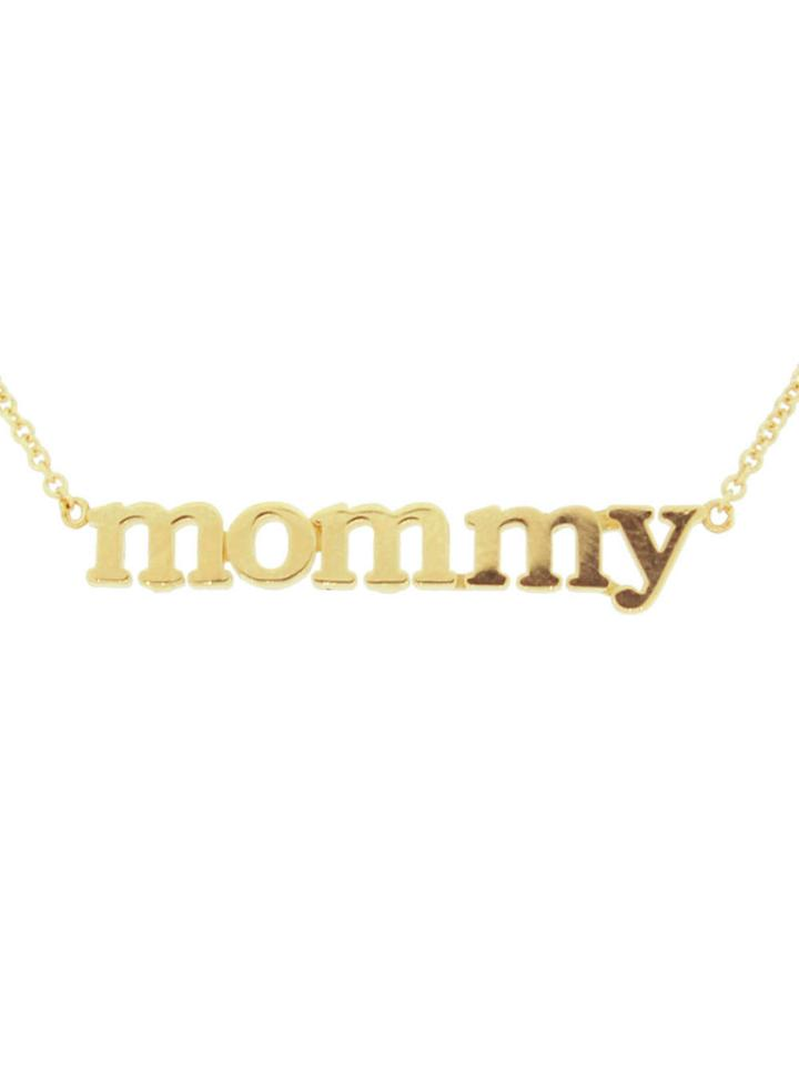 "Jennifer Meyer Statement ""mommy"" Necklace - Yellow Gold"