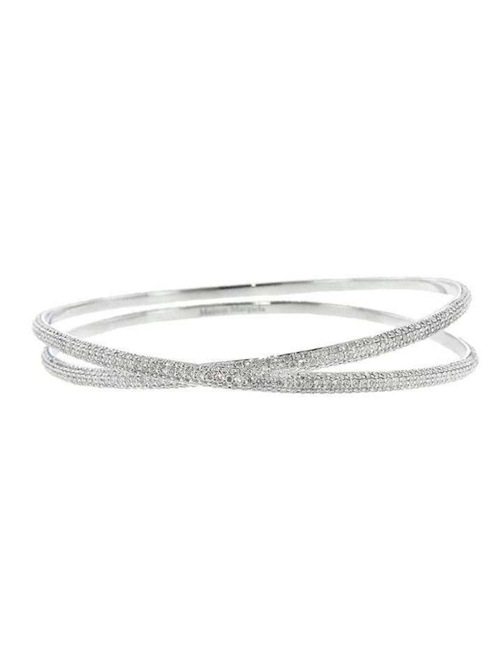 Maison Margiela Anamorphose Full-pav? Diamond Twisted Bracelet