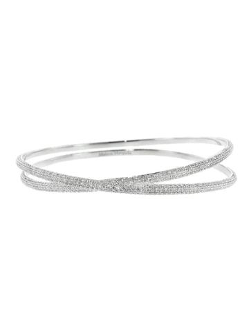 Maison Margiela Anamorphose Full-pav? Diamond Twisted Bracelet
