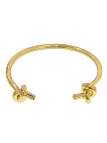 Jennifer Fisher Small Double Knot Cuff - Designer Yellow Gold Bracelet