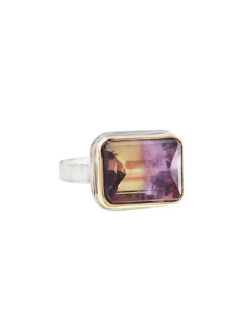 Jamie Joseph Rectangular Ametrine Ring