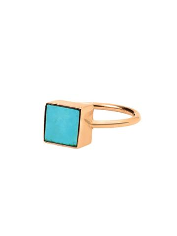 Ginette Ny Ever Turquoise Square Ring