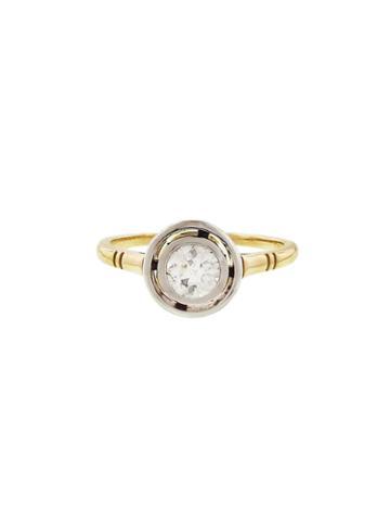 Lori Mclean Floating European Cut Diamond Ring