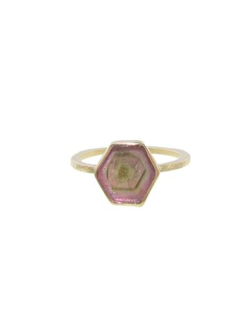 Ylang 23 Hexagonal Tourmaline Ring