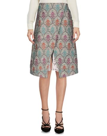 Stretch Knee Length Skirts