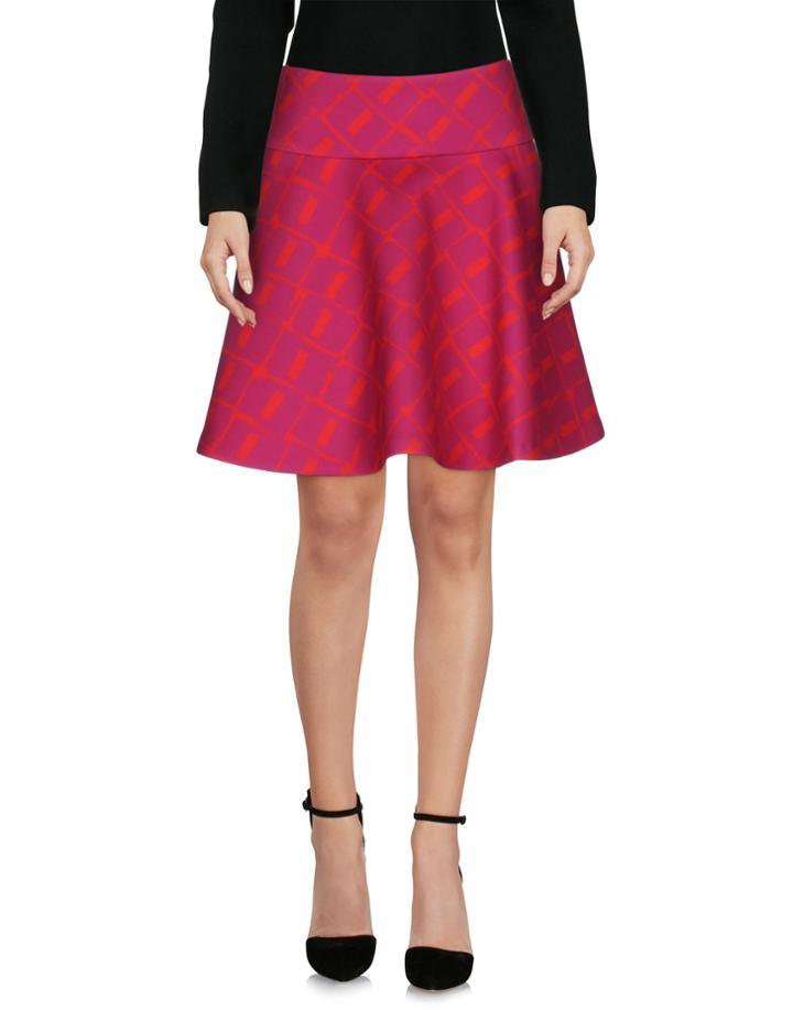 Violet Knee Length Skirts