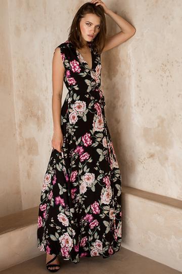 Yumikim Swept Away Silk Maxi Dress