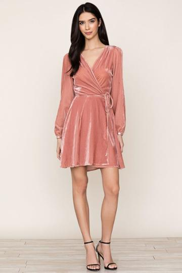 Yumikim Duchess Velvet Wrap Dress