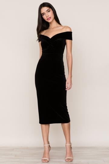 Yumikim Catwalk Velvet Dress