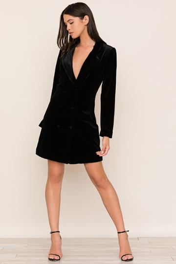 Yumikim Suit Up Velvet Dress