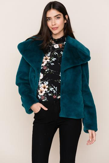Yumikim Park City Faux Fur Jacket