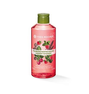 Yves Rocher Energizing Bath & Shower Gel - Raspberry Peppermint
