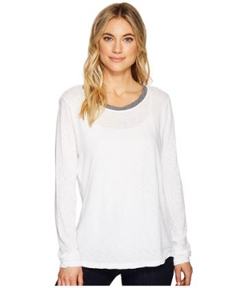 Michael Stars - Cotton Supima Long Sleeve Crew Neck Ringer Tee