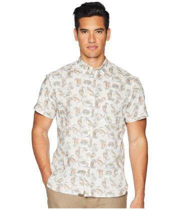 Billy Reid - Short Sleeve Tuscumbia Crab Print Shirt