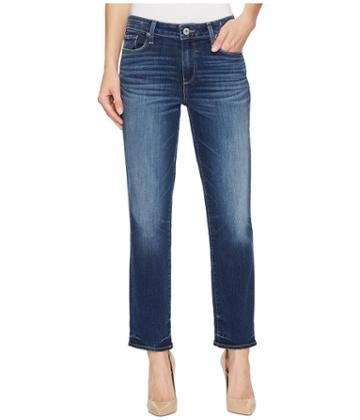 Paige - High-rise Jimmy Jimmy Crop In Marmont