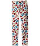 Moschino Kids - All Over Logo Heart Print Leggings