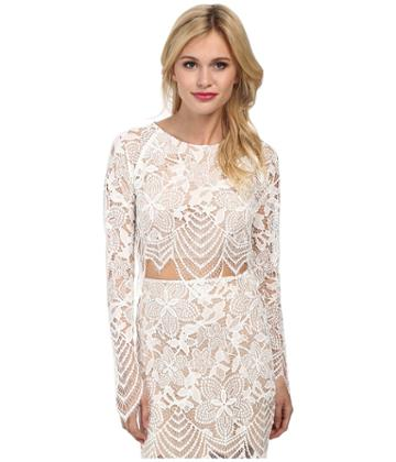 For Love And Lemons Guava Crop Top