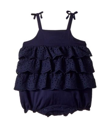 Janie And Jack - Tiered Eyelet Bubble One-piece