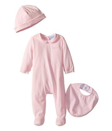 Lanvin Kids - Logo Collar Footie/hat/bib Gift Set