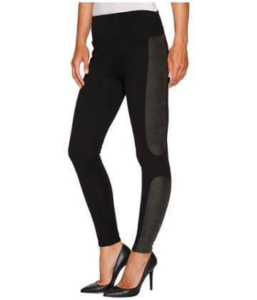 Spanx - Panel Leather Ponte Leggings